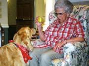 Grandma and a helping Dog